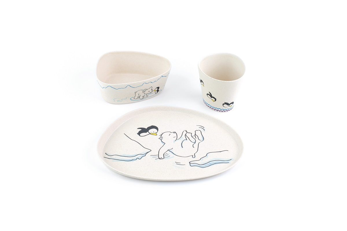 Polar Bear And Penguin -3pcs Kids Dinnerware Set  sc 1 st  Peterson Housewares & Polar Bear And Penguin -3pcs Kids Dinnerware Set u2013 Peterson Housewares